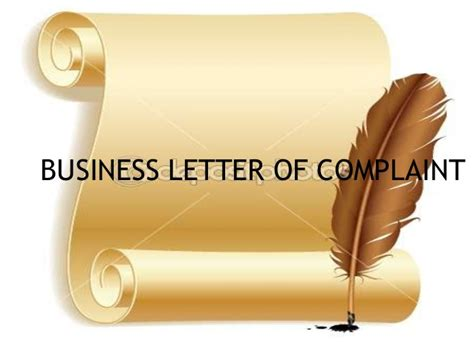 Complaint Letter Ppt Business Letter Of Complaint Ppt