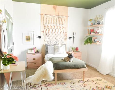 bohemian teen bedroom macie s boho bedroom makeover reveal vintage revivals