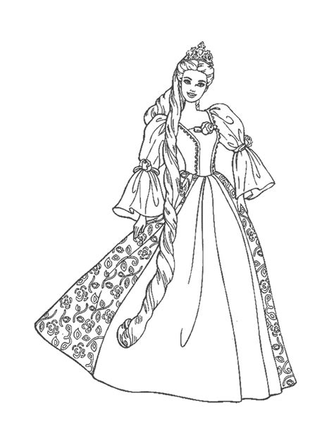 barbie coloring pages black and white barbie princess coloring pages free images at clker com