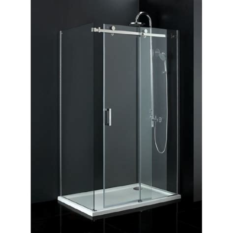 Tc Sevilla Frameless 1400 Sliding Shower Door Sevilla Bathroom Glass Sliding Shower Doors