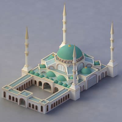 islamic pattern 3d model free simple mosque model images