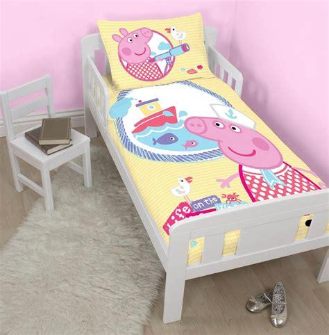 Peppa Pig Junior Bed Set New Peppa Pig Nautical Junior Duvet Quilt Cover Set For Cot Toddler Bed