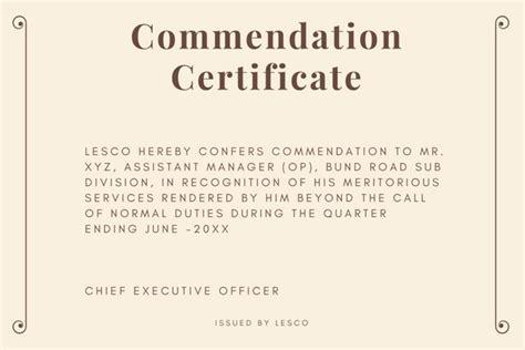 certificate of appreciation format