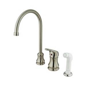 elements of design es818sn daytona single handle kitchen faucet satin nickel lowe s canada