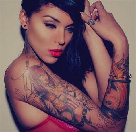 girl makeup tattoo girl gorgeous makeup sexy tattoos image 96998 on