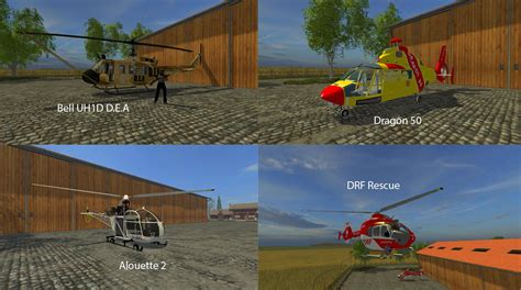 Large Ls Big Mods Pack V19 Helicopters Pack V1 For Ls15 Mod
