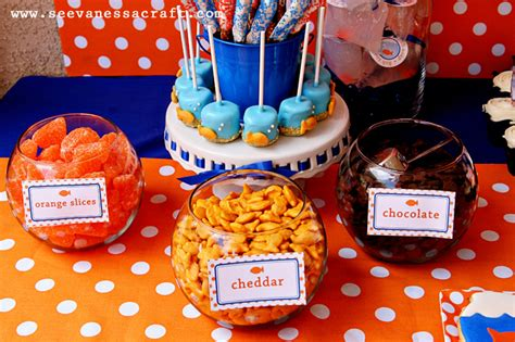 goldfish themes party goldfish second birthday see vanessa craft