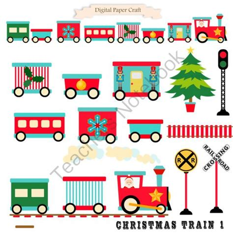 printable paper christmas train christmas train 1 from digital papercraft on