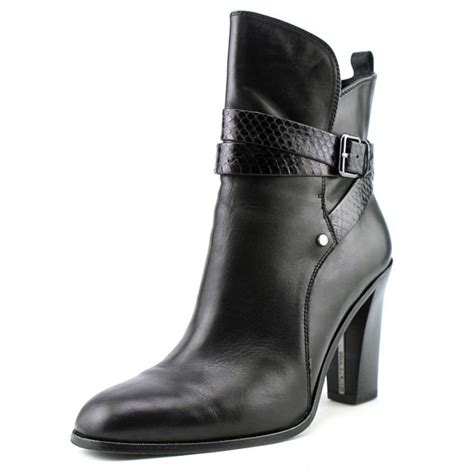 donald j pliner oli leather black ankle boot boots
