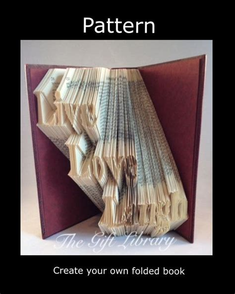 pattern art book live love laugh book folding pattern folded book art