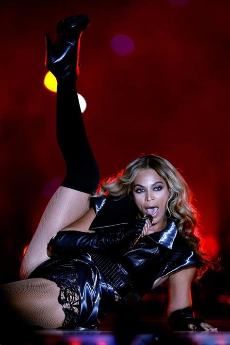 rowland illuminati beyonce bowl rubin singer black leather stage