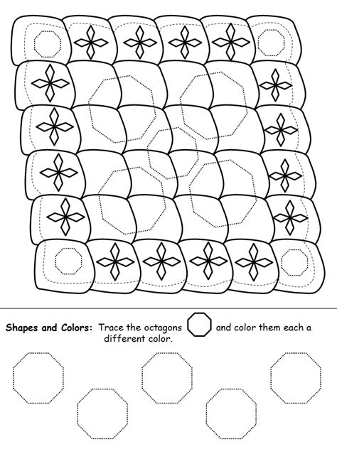 quilt math worksheets printable octagons quilt