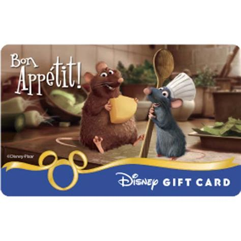 Sea World Gift Cards - your wdw store disney collectible gift card bon appetit ratatouille