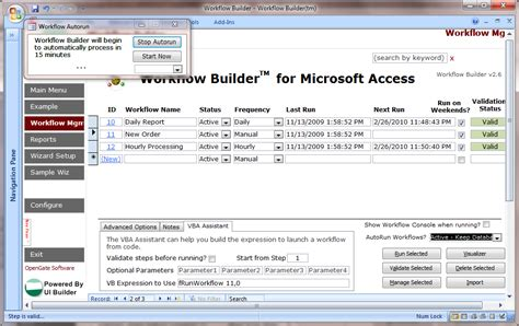 access product database template workflow builder for microsoft access avoid vba