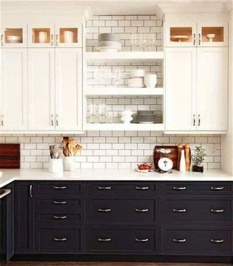 two toned kitchen cabinet trend diy crafts