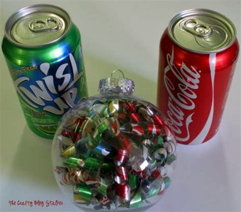 how to make a soda can christmas ornament the crafty