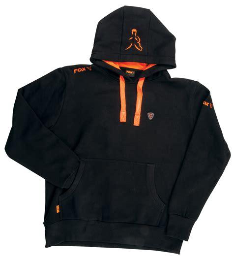 Hoodie Orange Black fox black orange hoody chapmans angling