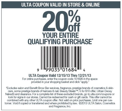 ulta coupons promos coupon codes 2015 retailmenotcom ulta coupons 20 off the tab at ulta or online via
