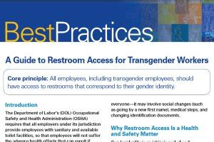 osha trans workers should have access to restroom that