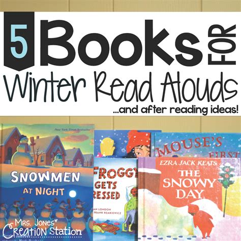 the winter station books 5 books for winter read alouds mrs jones creation station