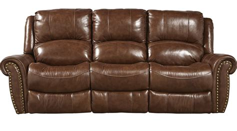 furniture brown leather reclining sofa abruzzo brown leather power reclining sofa traditional