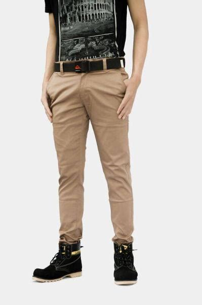 Celana Chino Cotton jual celana chino abu bahan cotton twill clothindo