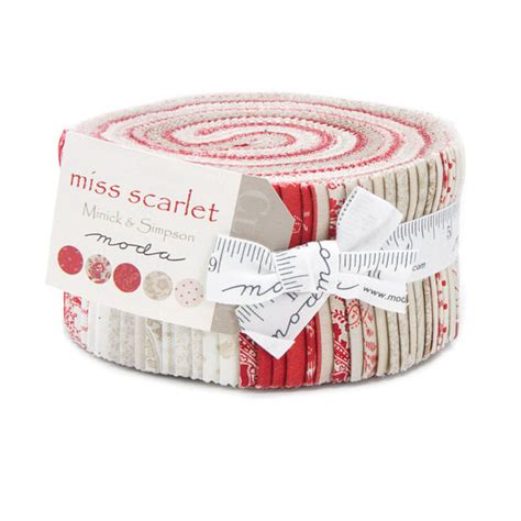 miss scarlet jelly roll moda fabric shabby by melodyoftheheart