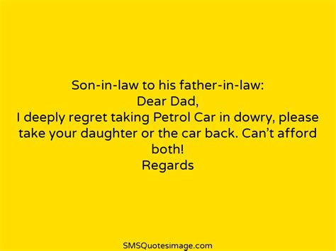 in law son in law to his father in law marriage sms quotes image