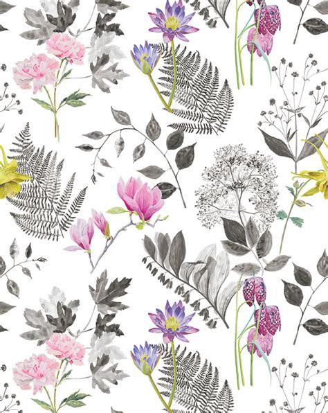 printable fabric flower patterns designers guild mokuren fabric print featuring