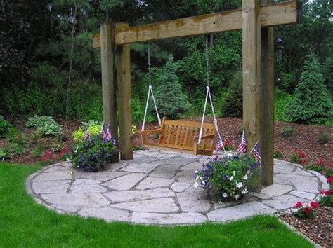 pretty idea  outdoor swing  dad