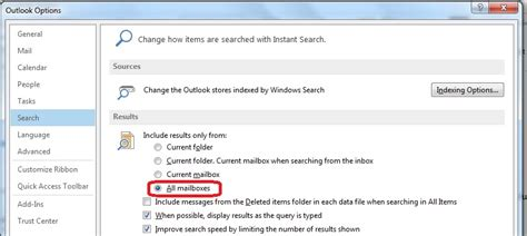 Outlook 2010 Not Searching All Emails Changing Where Outlook Searches Emails By Default Ms Outlook For Business