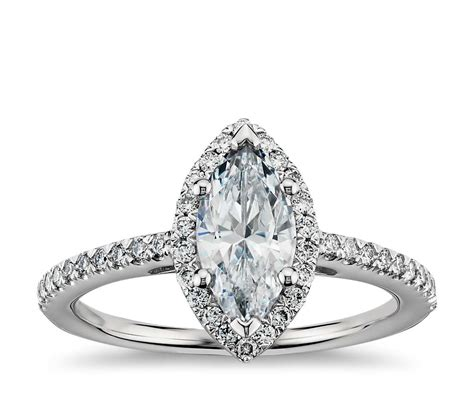 Marquise Engagement Ring marquise cut halo engagement ring in platinum