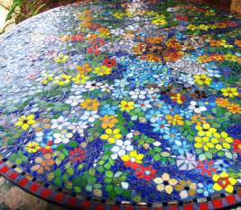 Mexican Painted Chairs Glass Mosaic Tile Glass Mosaic Table Top Glass Mosaic