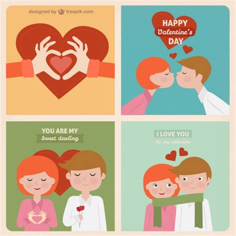 sweet greeting cards vector free