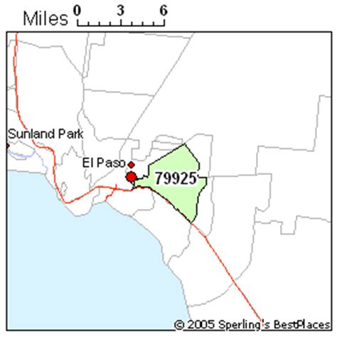 el paso texas zip code map best place to live in el paso zip 79925 texas