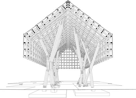 plans perspectives and elevations of timber pavilions gallery of lantern pavilion awp atelier oslo 19