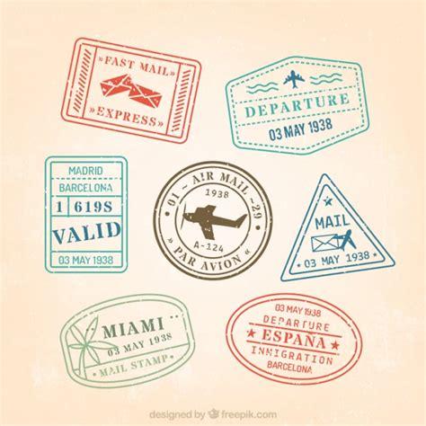 imagenes vintage de sellos sellos descargar vectores gratis