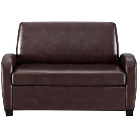 Leather Loveseat Sleeper Sofa Mainstays Sofa Sleeper Black Faux Leather Tourdecarroll