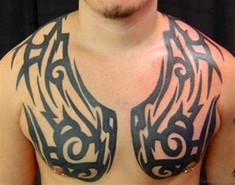 tribal chest and arm tattoos 61 stylish tribal tattoos on chest