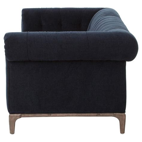 Dorian Hollywood Regency Navy Velvet Tufted Sofa Kathy Velvet Tufted Sofas