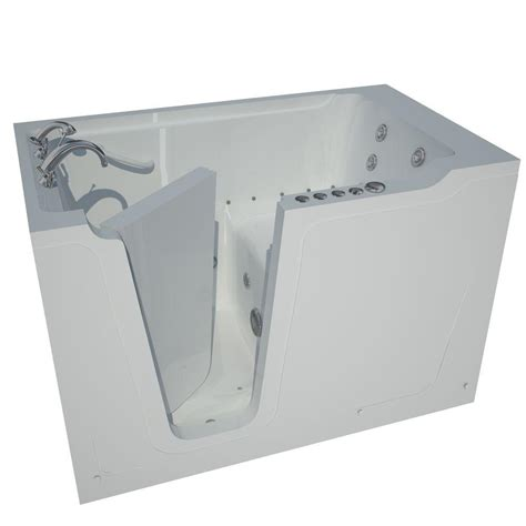 home depot walk in bathtub universal tubs 5 ft left drain walk in whirlpool and air bath tub in white hd3660lwd