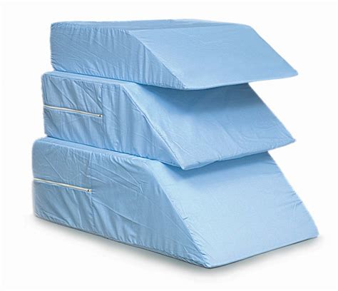 mabis dmi healthcare ortho bed wedge pillow 10 quot x 20 quot x 30 1 2 quot extra large blue cover ortho bed wedge 10 quot x 20 quot x 30 1 2 quot 555 8071 0124