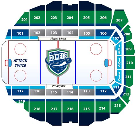 utica aud seating tickets utica comets official website