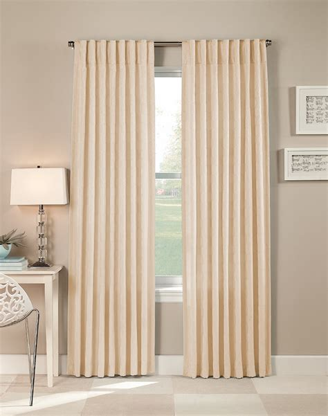 continuous curtain rod curtains thumbprinted