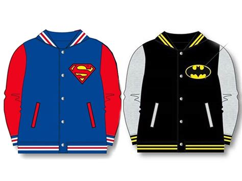 official boys batman superman baseball jacket coat varsity ebay