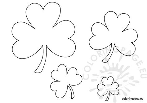 coloring pages shamrock template printable shamrock templates coloring page