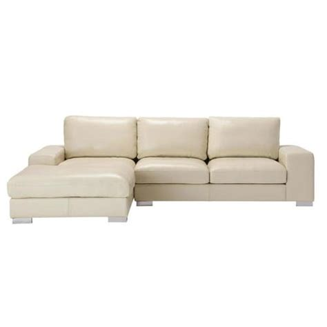 5 Seat Sectional Sofa Sofa 5 Seat Sectional Corner Sofa In Ivory Leather New York New York Maisons Du Monde