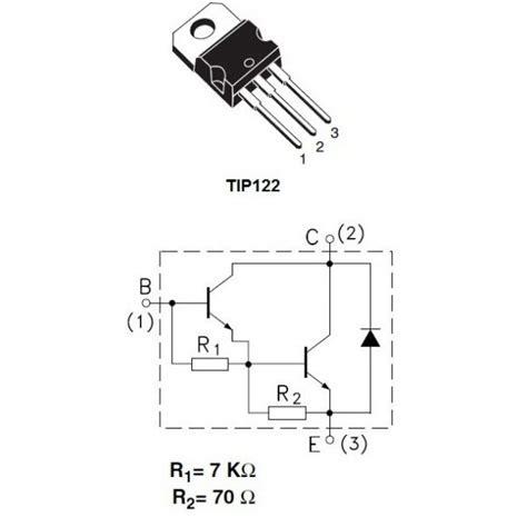 transistor npn de potencia tip122 transistor de potencia darlington npn
