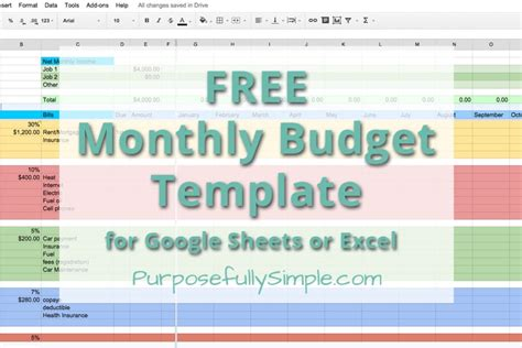 simple household budget template printable with blank form in pdf