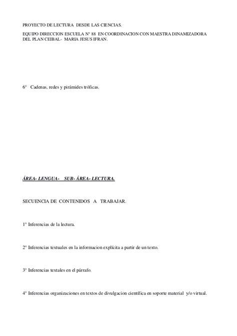 cadenas troficas plan ceibal planiicacion proyecto lectura de textos de divulgacion